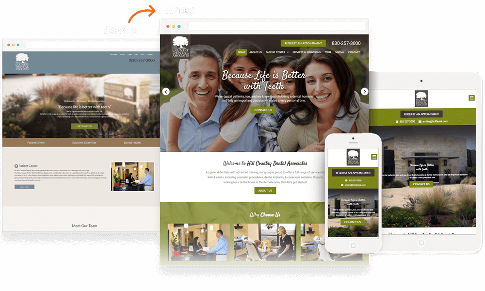 an example of a website built by Round Rock web design company Plenty of Pixels